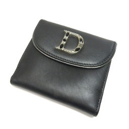 Christian Dior【クリスチャンディオール】 二つ折り財布(小銭入れあり) レザー レディース
