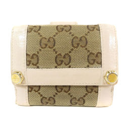 GUCCI【グッチ】 154119 二つ折り財布(小銭入れあり) キャンバス/レザー/レザー レディース