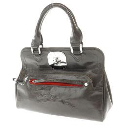 Longchamp【ロンシャン】 ハンドバッグ パテントレザー レディース