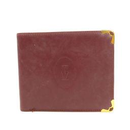 CARTIER【カルティエ】 二つ折り財布(小銭入れなし) レザー レディース