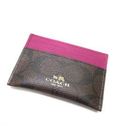 COACH【コーチ】 F63279 8031 カードケース レザー レディース