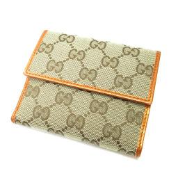 GUCCI【グッチ】 二つ折り財布(小銭入れあり) キャンバス レディース