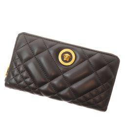 Gianni Versace【ジャンニ・ヴェルサーチ】 長財布(小銭入れあり) レザー レディース