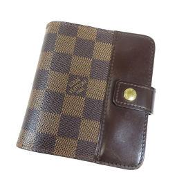 LOUIS VUITTON【ルイ・ヴィトン】 N61668 二つ折り財布(小銭入れあり) ダミエキャンバス レディース