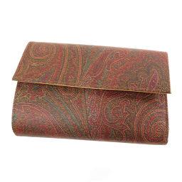 ETRO【エトロ】 二つ折り財布(小銭入れあり) レザー レディース