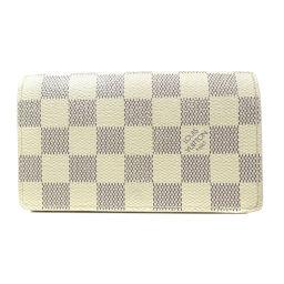LOUIS VUITTON【ルイ・ヴィトン】 N61744 二つ折り財布(小銭入れあり) ダミエキャンバス レディース