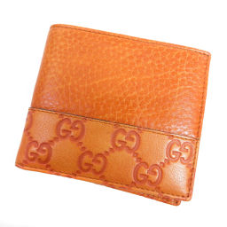 GUCCI【グッチ】 256408 3661 二つ折り財布(小銭入れなし) レザー レディース
