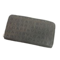BVLGARI【ブルガリ】 長財布(小銭入れあり) キャンバス メンズ