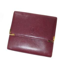 CARTIER【カルティエ】 二つ折り財布(小銭入れあり) レザー レディース