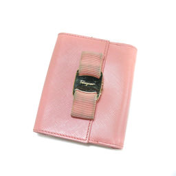Salvatore Ferragamo【サルヴァトーレフェラガモ】 二つ折り財布(小銭入れあり) レザー レディース