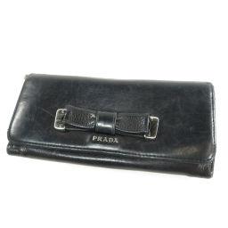 PRADA【プラダ】 長財布(小銭入れあり) レザー レディース