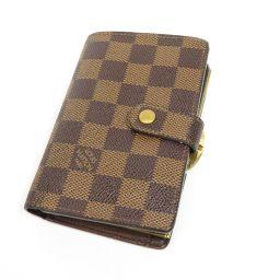 LOUIS VUITTON【ルイ・ヴィトン】 N61664 二つ折り財布(小銭入れあり) ダミエキャンバス レディース