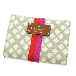 Kate Spade【ケイトスペード】 二つ折り財布(小銭入れあり) キャンバス レディース
