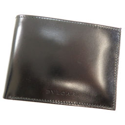BVLGARI【ブルガリ】 二つ折り財布(小銭入れなし) レザー レディース