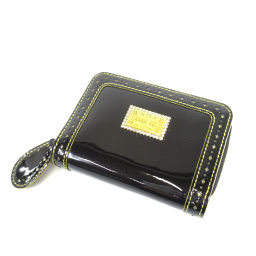 ANNA SUI【アナスイ】 二つ折り財布(小銭入れあり) パテントレザー レディース