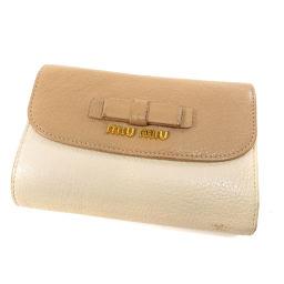 MIUMIU【ミュウミュウ】 5M1225 二つ折り財布(小銭入れあり) レザー レディース