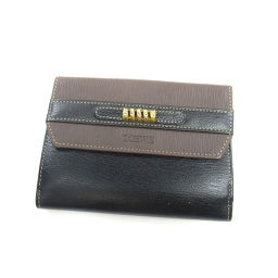 LOEWE【ロエベ】 二つ折り財布(小銭入れあり) レザー レディース