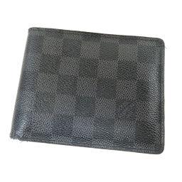 LOUIS VUITTON【ルイ・ヴィトン】 N63074 二つ折り財布(小銭入れあり) ダミエキャンバス メンズ