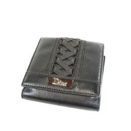 Christian Dior【クリスチャンディオール】 二つ折り財布(小銭入れあり) カーフ レディース