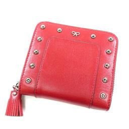 Anya Hindmarch【アニヤ・ハインドマーチ】 二つ折り財布(小銭入れあり) レザー レディース