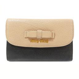 MIUMIU【ミュウミュウ】 二つ折り財布(小銭入れあり) レザー レディース