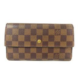 LOUIS VUITTON【ルイ・ヴィトン】 N61217 長財布(小銭入れあり) ダミエキャンバス レディース