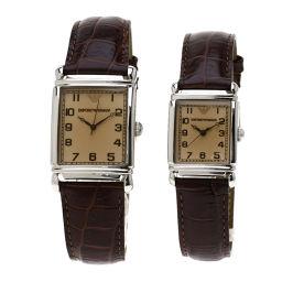 Emporio Armani【エンポリオ・アルマーニ】 AR0203 AR0204 腕時計 ステンレススチール/革/革 メンズ
