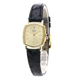 SEIKO【セイコー】 2340-5060 7626 腕時計 K18イエローゴールド/クロコダイル レディース