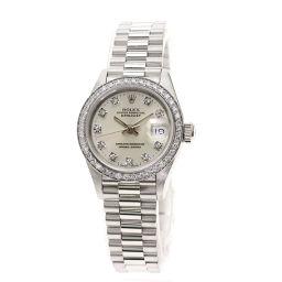 ROLEX【ロレックス】 69136G 腕時計 プラチナ/プラチナ/プラチナダイヤモンド レディース