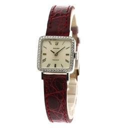 ROLEX【ロレックス】 腕時計 K18ホワイトゴールド/革/革ダイヤモンド レディース