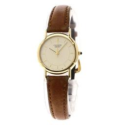 SEIKO【セイコー】 7626 腕時計 K18イエローゴールド/革/革 レディース