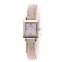 WALTHAM【ウォルサム】 腕時計 K18ホワイトゴールド/革/革 レディース