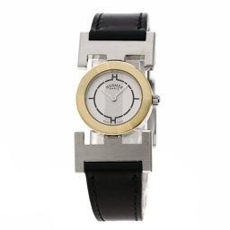 HERMES【エルメス】 PA1.220 腕時計 ステンレススチール/革/革 レディース