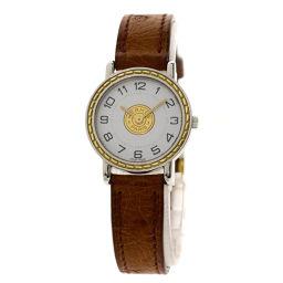 HERMES【エルメス】 四角J刻印 8083 腕時計 ステンレススチール/革/革 レディース
