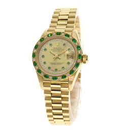 ROLEX【ロレックス】 69178LE 腕時計 K18イエローゴールド/K18イエローゴールド/K18YGダイヤモンドxエメラルド レディース
