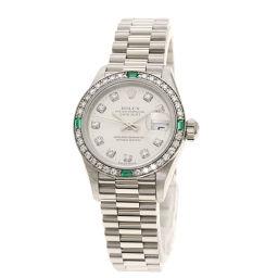 ROLEX【ロレックス】 79079EG 腕時計 K18ホワイトゴールド/K18ホワイトゴールド/K18WGダイヤモンドxエメラルド レディース