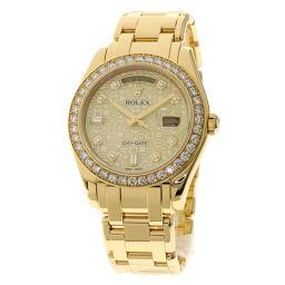 ROLEX【ロレックス】 18948 腕時計 K18イエローゴールド/K18イエローゴールド/K18YGダイヤモンド メンズ