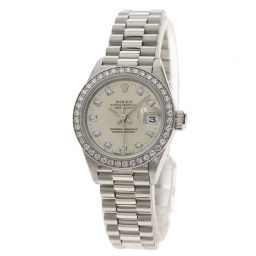 ROLEX【ロレックス】 69136G 腕時計 プラチナ/プラチナ/PTダイヤモンド レディース
