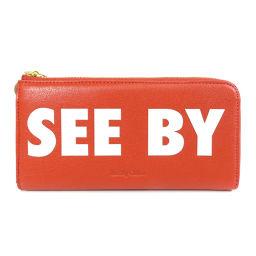 SEE BY CHLOE【シーバイクロエ】 長財布(小銭入れあり) レザー レディース