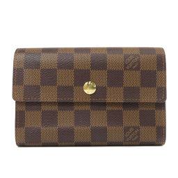 LOUIS VUITTON【ルイ・ヴィトン】 N63067 二つ折り財布(小銭入れあり) ダミエキャンバス レディース