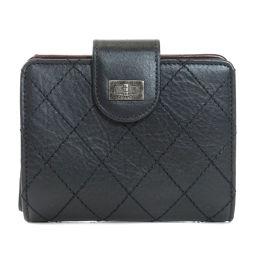 CHANEL【シャネル】 二つ折り財布(小銭入れあり) カーフ レディース