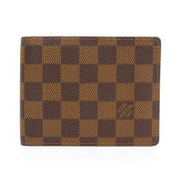 LOUIS VUITTON【ルイ・ヴィトン】 N60011 二つ折り財布(小銭入れあり) ダミエキャンバス レディース