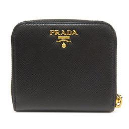 PRADA【プラダ】 二つ折り財布(小銭入れあり) レザー レディース