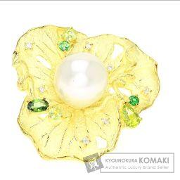 SELECT JEWELRY【セレクトジュエリー】 真珠/ダイヤモンド/ペリドット/ガーネット リング・指輪 K18イエローゴールド レディース