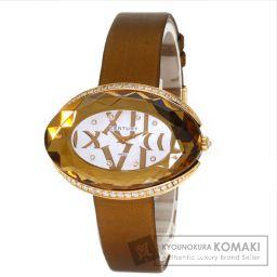 CENTURY【センチュリー】 カリスマ 腕時計 K18ピンクゴールド/革/革ダイヤモンド レディース