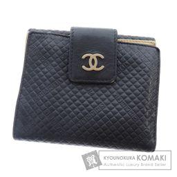 CHANEL【シャネル】 Wホック ココマーク 二つ折り財布(小銭入れあり) レザー レディース