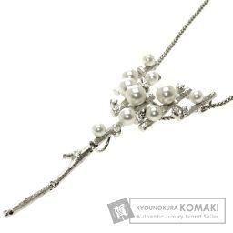 SELECT JEWELRY【セレクトジュエリー】 真珠/ダイヤモンド ネックレス K18ホワイトゴールド レディース