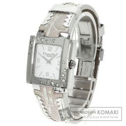 Christian Dior【クリスチャンディオール】 腕時計 ステンレス/レザー/レザー レディース