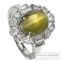 【】 クリソベリルキャッツアイ/ダイヤモンド リング・指輪 2925 レディース