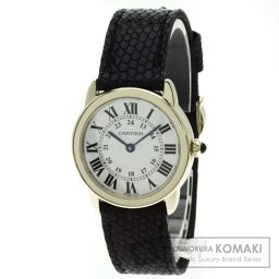 CARTIER【カルティエ】 SM ロンドソロ 腕時計 K18イエローゴールド/革/革 レディース